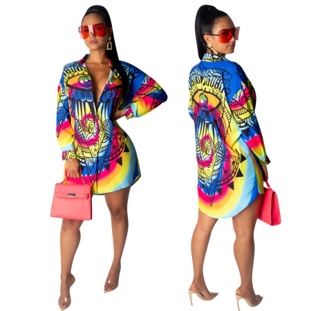 African Colorful Print Tall Blouse