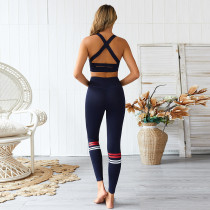 Contrast Yoga Bra and Leggings