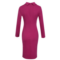 Purple Elegant Wrap Midi Dress
