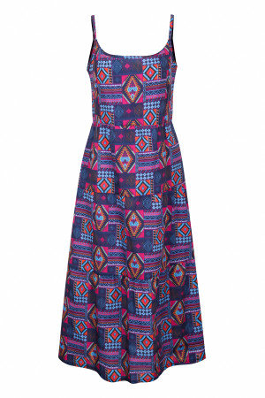 Colorful Straps Long Retro Dress