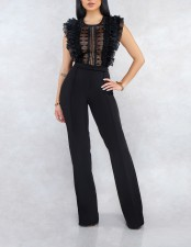 Sexy Ruffles Sleeveless Jumpsuit