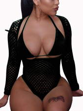 Sexy Long Sleeve Fishnet Swimwear