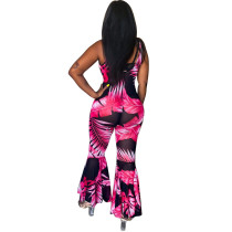 Jumpsuit Bell Sexy Straps Imprimer