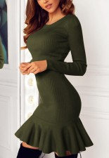 Sexy Mermaid Knit Dress with Long Sleeves