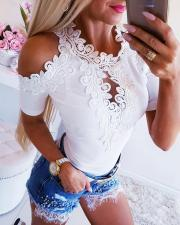 Cut Out Applique Flower Bodysuit