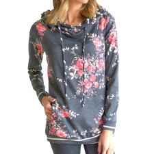 Print Floral Long Sleeve Hoody Sweat