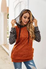 Polka Patchword Hoody with Pockets