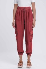 Casual Drawstrings Pocket Trousers