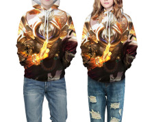 Kids Print Pullover Hoody with Front Pocket