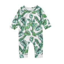 Baby Boy Print Long Sleeve Onesie Rompers