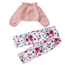 Kids Girl Two Piece Floral Pants Set