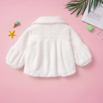 Kids Girl Princess Witte pluche top