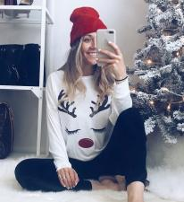 Print White Christmas Shirt