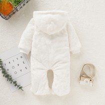 Baby Girl Winter White Polar Fleece Onesie Rompers