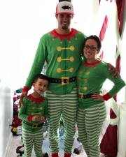 Family Kids Green Christmas Pajamas Set