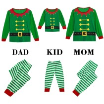 Family Mommy Green Christmas Pajamas Set