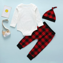 Baby Boy Print Three Piece Set