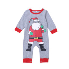 Baby Boy Christmas Print Rompers