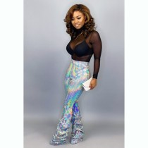 Sequins Sexy High Waist Party Pants