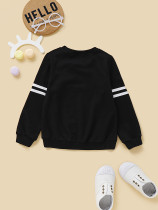 Kids Boy Print Black Sweat Shirt
