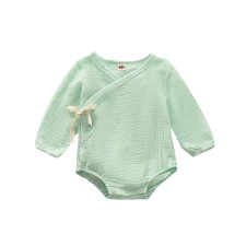 Baby Girl Organic Cotton Long Sleeve Rompers
