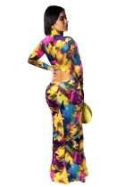 African Colorful Long Sleeve Maxi Dress