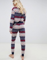Weihnachten Long Sleeves Pyjamas Set