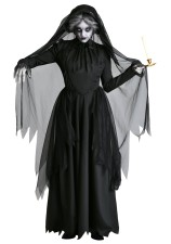 Costume nero da donna Ghost Bride