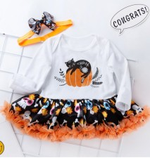 Baby Girl Two Pieces Halloween Tutu Dress Set