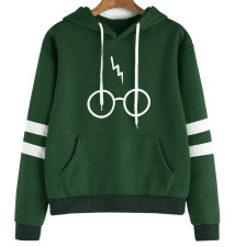 Young Fashion Print Sweat Hoody