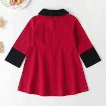 Kids Girl Red A-Line Kleid