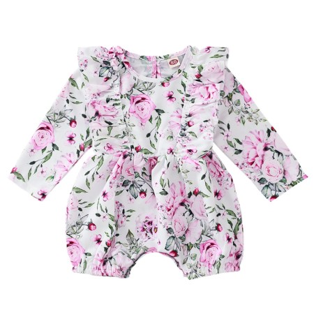 Baby Girl Ruffles Floral Rompers