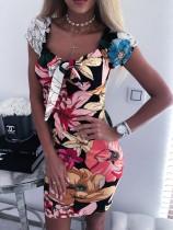 Mini-robe vintage à imprimé floral