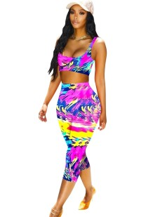Sexy Colorful Bra and Pants Set