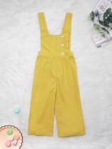Çocuk Kız Yaz Sarı Tulum