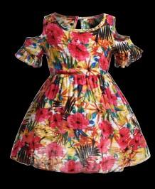 Детское летнее платье для девочек с цветочным принтом