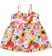 Kids Girl Летнее платье с цветочным ремешком