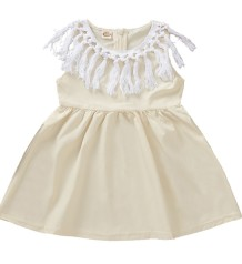 Kids Girl Summer Tassel Dress