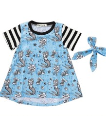 Детское летнее платье с принтом для девочек
