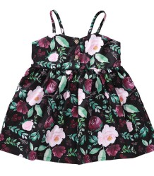 Kids Girl Summer Floral Strap Dress