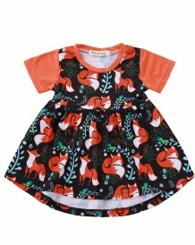 Kids Girl Cartoon Print Summer Dress