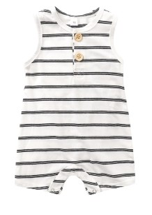 Baby Boy Summer Stripped Sleeveless Jumpsuit Rompers