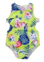 Bikini de una pieza floral para niña