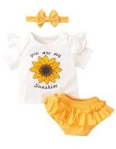 Baby Mädchen Sommer Höschen Set mit Stirnband