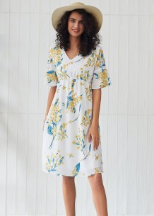 Summer V-Neck Floral Long Dress