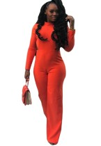 Solid Color Long Sleeve Formal Jumpsuit