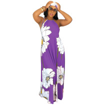 Zomer maxi-jurk met bloemenprint