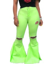 Bell Bottom Jeans mit hoher Taille