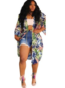 Floral Print Long Cover Up