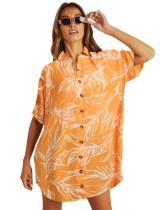 サマープリントビーチシャツ